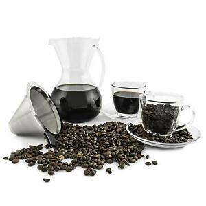 PouPour-Over-Coffee-Dripper-and-Maker-Carafe-with-Coffee-Cup-and-Sauce-Set-Glass