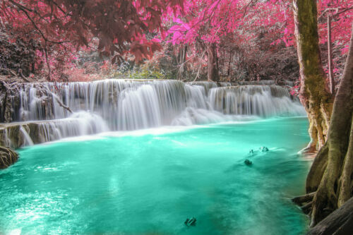 Waterfall Landscape Wall Art Picture Print Painting Canvas Living Room Decor W07