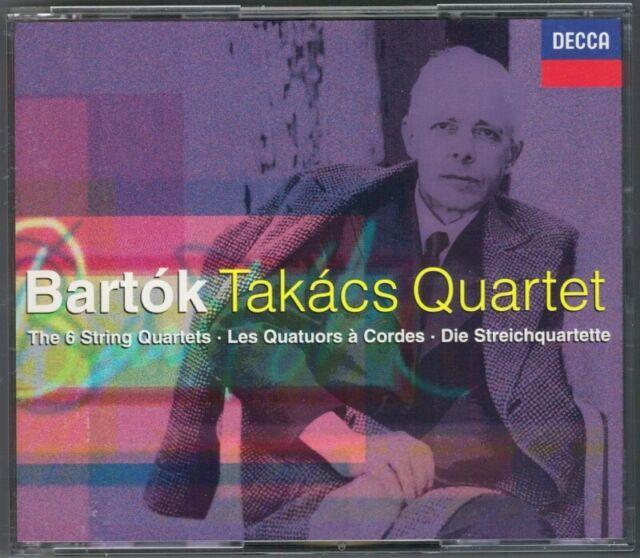 TAKACS QUARTET: BARTOK String Quartet No.1 2 3 4 5 6 Streichquartette DECCA 2CD