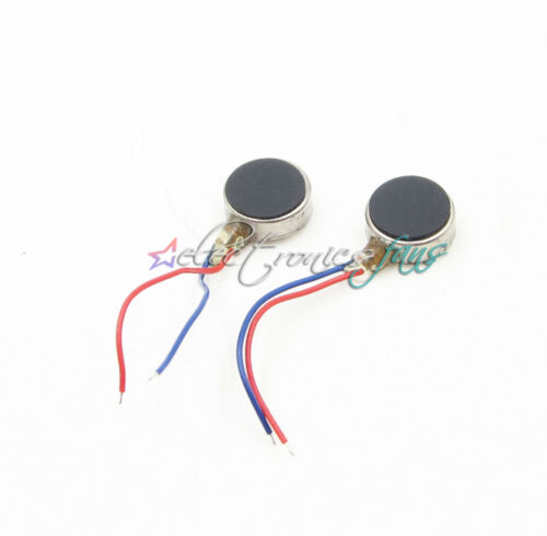 10PCS Münzen Flat Vibrating Micro Motor DC 3V 8mm Für Pager and Cell Telefon Mob