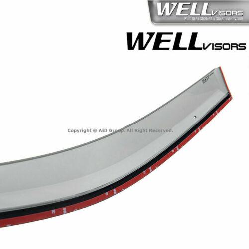 WellVisors Black TRIM For 17-Up Honda Ridgeline Side Window Visors Rain Guards