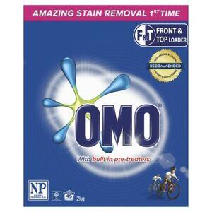 OMO Active Clean Front & Top Loader Laundry Detergent Washing Powder 2kg
