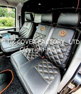 GREY 1+1  VW TRANSPORTER T5  VAN SEAT COVER BENTLEY RED BLUE VARIOUS VW LOGO