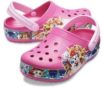 Girls Paw Patrol Fuchsia  Slip On Beach Sandals Clogs Mules Kids Sizes 5 to 10