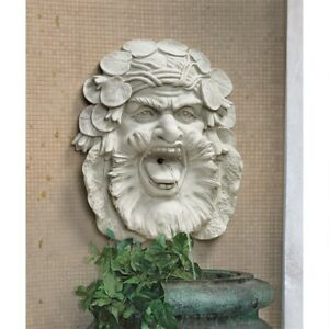 Hafod Mansion Greenman Design Toscano Exclusive Wall Sculpture Or Fountain