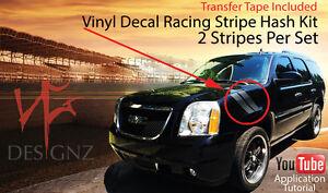 Image Is Loading Gmc Yukon Denali Fender Racing Stripe Hash War