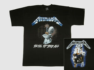 Metallica Mens Metal Up Your Ass T-shirt Black - Walmart