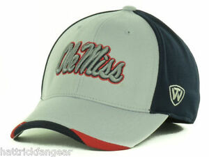 Ole Miss Rebels Top of the World NCAA College Grizzly Stretch Fit Cap Hat  OSFM
