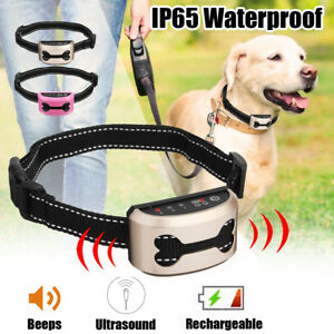 COLLIER-ANTI-ABOIEMENT-ULTRASONS-OU-CHOC-EDUCATION-CANINE-RECHARGEABLE-USB