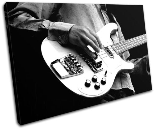 Guitar INSTRUMENTS  Musical SINGLE CANVAS WALL ART Picture Print VA