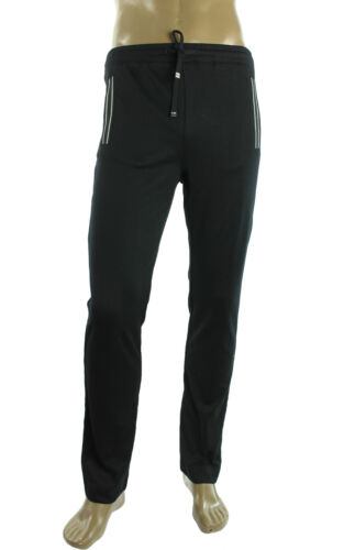 New Hugo Boss Green Label Hadim Stripe Pocket Black Jogger Track Pants S