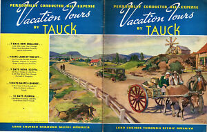 Details about Tauck Motor Tours 1936 Booklet Vacation Tour Packages United  States & Canada