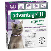 Advantage Ii Large Cat Cats Over 9 Lbs, 4 Month Flea Control Usa Epa Approved