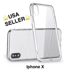 for Apple iPhone X Shockproof Slim Clear Soft TPU Rubber Silicone Case Cover