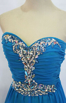 MASQUERADE BLUE IRISH Prom Formal Gown 9 - $160 NWT