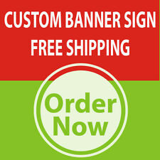 3' x 10' Custom Sign Banner 13oz High Quality Vinyl