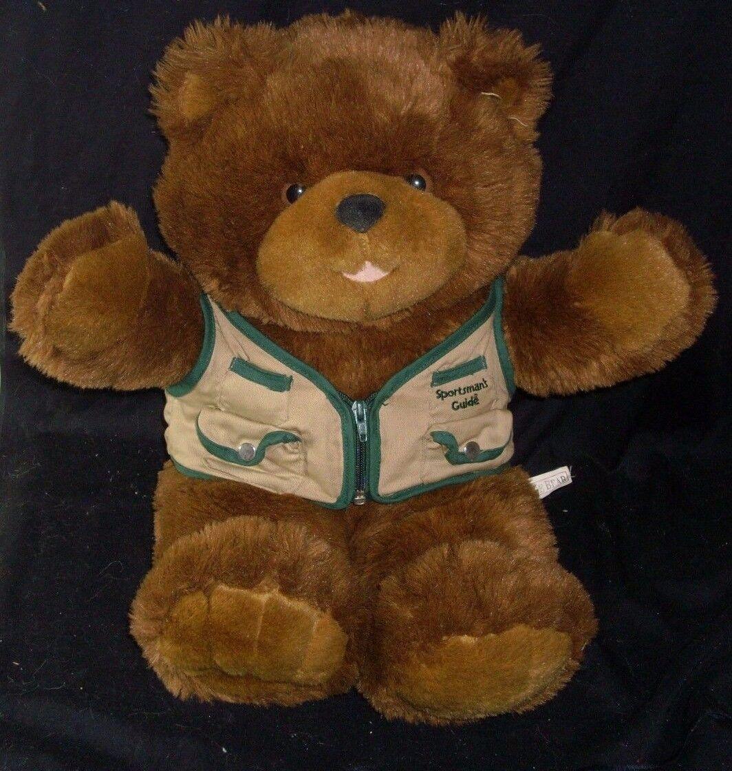 20  VINTAGE 1999 SPORTMAN'S GUIDE TEDDY BEAR CAMP BOY SCOUT STUFFED ANIMAL PLUSH