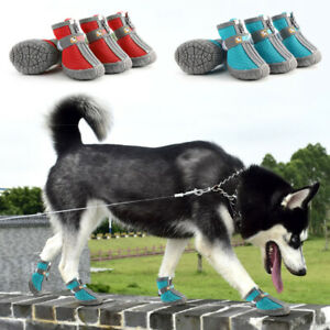 Breathable-Dog-Hiking-Shoes-Nonslip-Paw-Protector-Dog-Boots-amp-Reflective-Strap