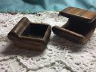 Vintage Hand Carved Wood Box w/ Hidden Box Signed  ARLENE BRAND