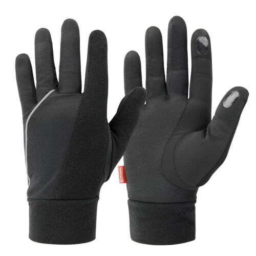 Mens Ladies Running Lightweight Thermal Reflective Gloves for Touch Screen Phone