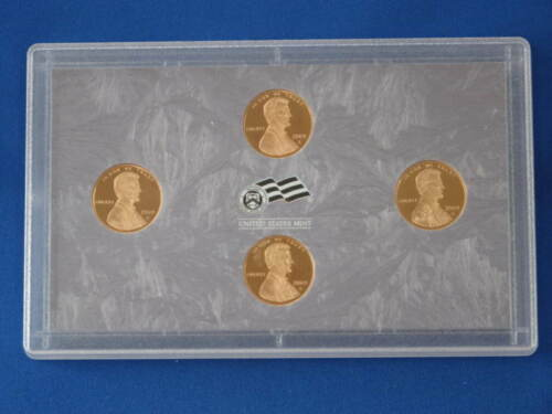 2009-S Lincoln Cent 100 Year Commemorative Four Coin DCAM Proof Set   E6162