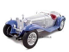 1932 ALFA ROMEO 8C 2300 SPIDER SILVER/BLUE 1:18 MODEL CAR BY BBURAGO 12063