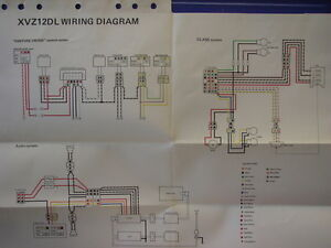 image is loading nos-yamaha-factory-wiring-diagram-1984-xvz-12-