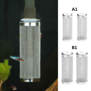2-PCS-Stainless-Mesh-Aquarium-Filter-Guard-Strainer-Fish-Shrimp-Safety-Protect