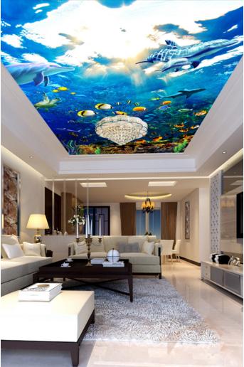 3D Fisch Delphine 900 Fototapeten Wandbild Fototapete BildTapete Familie DE Kyra