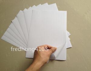 A4 White Glossy Self Adhesive Sticker Photographic Photo Inkjet Printer Paper