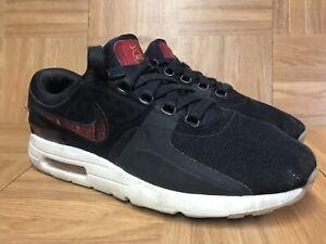 hot sale online c771d 720fc Details about RARE🔥 Nike Air Max Zero 'N7' Black University Red Gum Sz 9  924449-001 Mens Shoe