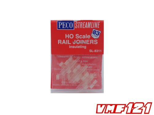 HO Scale Code 83 Insulating Rail Joiners PECO Streamline #SL-8311 vmf121