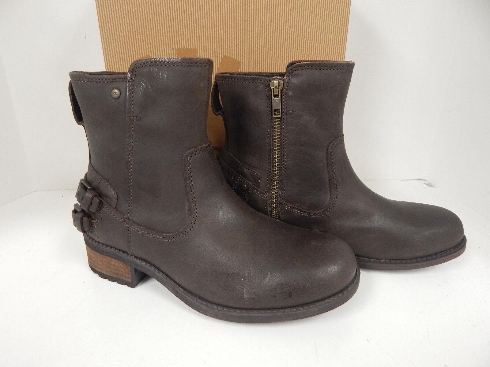 Ugg Australia - Botte en cuir marron Orion Stout 1007769 avec fermeture à glissière médiale pour femmes - Nouveautés