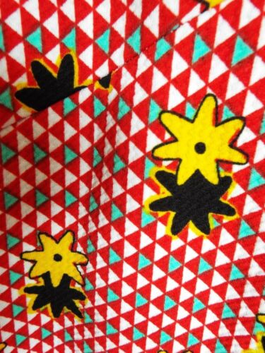 Onjenu Stella Cross V neck 3//4 sleeve Split Flowers /& Check Red /& White Dress 16