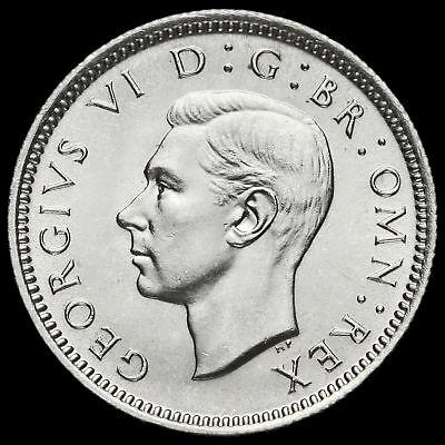 1945 George VI Silver Sixpence, A/BU