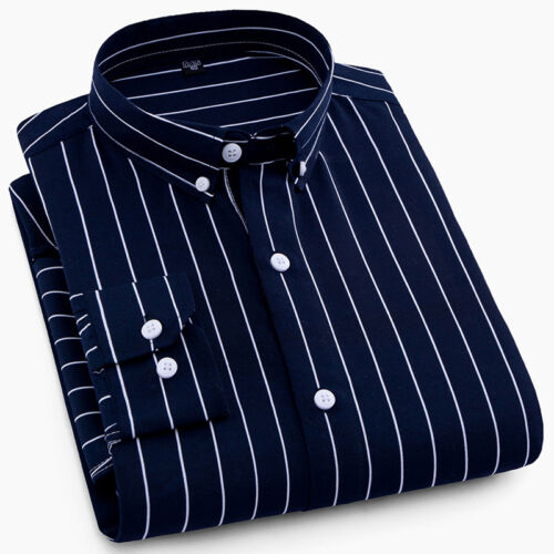 New Men/'s Business Casual Luxury Shirts Long Sleeves Formal Camisas 6448