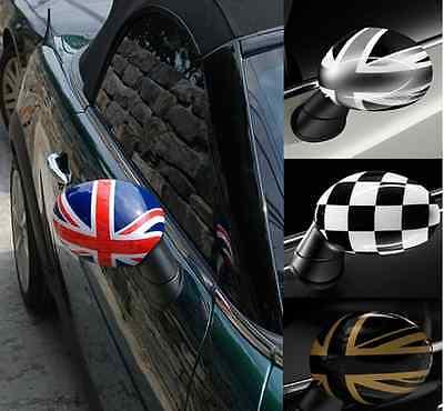 Union Jack Mirror Covers Cap For Mini Cooper S One R50 R53