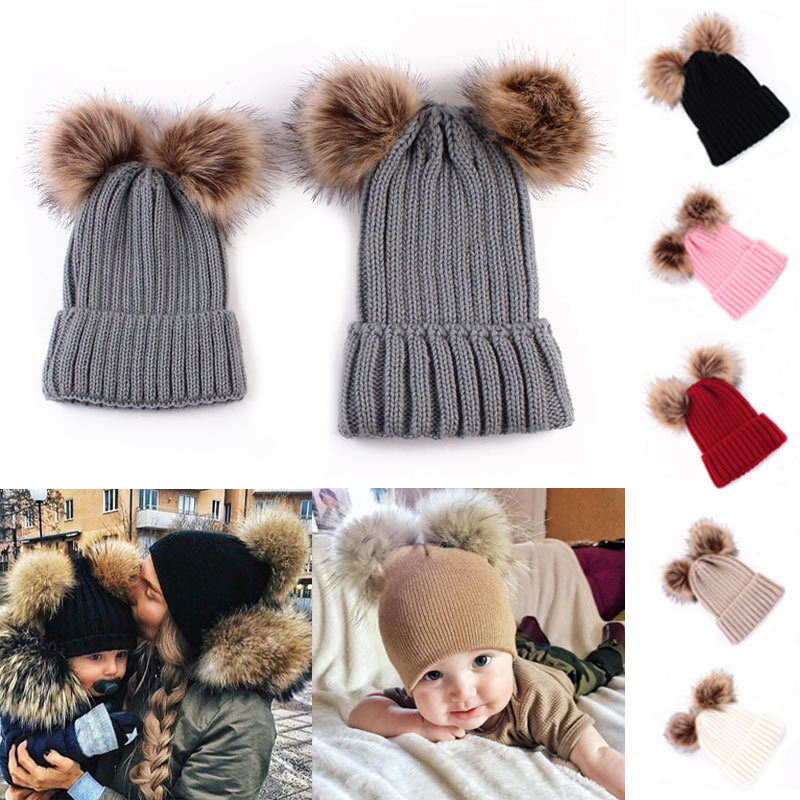 Baby Girl Boy Toddler Infant Kids Children Soft  Winter Knit Hat Beanies Cap Y1