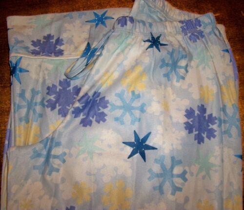 Girls Pajama Pants sz 10 OLD NAVY Blue w//Purple,Yellow,Blue/&White Snowflakes NEW