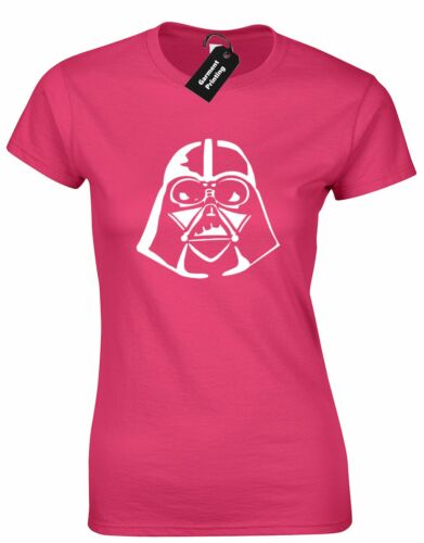 DARTH SILHOUETTE LADIES T SHIRT STAR TROOPER JEDI VADER WARS YODA R2D2 FASHION