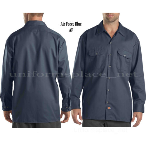 Dickies work shirts Mens LONG SLEEVE button front Shirt 574 S to 4X Solid Colors