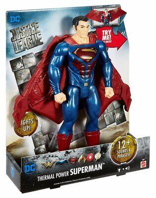 """12/"""" FGH07 DC JUSTICE LEAGUE POTENZA TERMICA SUPERMAN Per Bambini Giocattoli Toy"""