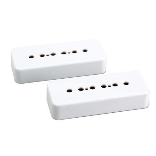 Weiße P90 Gitarre Pickup Covers Soapbar Pickup Cover passt Les Paul LP Gitarre