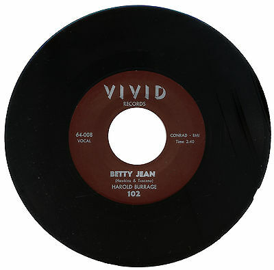 "HAROLD BURRAGE  ""BETTY JEAN""   CLASSIC R&B MOVER"