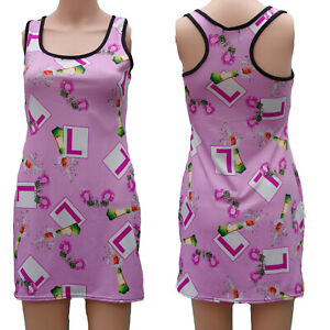 PINK-HEN-NIGHT-L-PLATE-LONG-VEST-DRESS-TOP-Size-8-to-10-ALTERNATIVE-GOTHIC-EMO