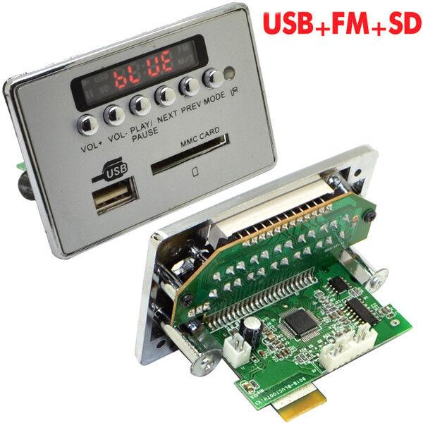 Car Electronics & Accessories Auto Car Music MP3 WMA Decoder Board Panel 12V Automobiles Audio Decoder Board Module USB TF FM Radio with Remote Controller Accessories