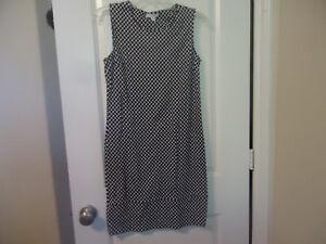 New-York-amp-Company-Size-S-Sleeveless-Black-White-Dress-Geometric-Print