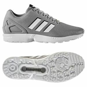 competitive price e43fe 0f93f Details about adidas ORIGINALS MEN'S ZX FLUX RUNNING TRAINERS GREY TREFOIL  FITNESS GYM RUN NEW