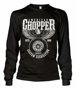 Autorizzato-American-Chopper-Personalizzato-Tessuto-Manica-Lunga-T-SHIRT-S-XXL
