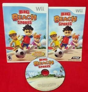 Big Beach Sports  - Nintendo Wii Game Complete 1 Owner Mint Disc 1-2 players